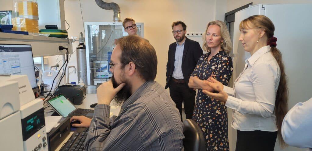 Ida Auken in the laboratory at BioPhero